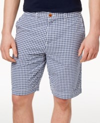 Tommy Hilfiger Men's Gary Gingham Print Shorts French Blue