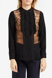 Paul And Joe Chantilly Lace Shirt Black