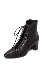 The Archive Jane Lace Up Booties Black
