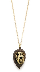 Monserat De Lucca Leo Zodiac Necklace Gold