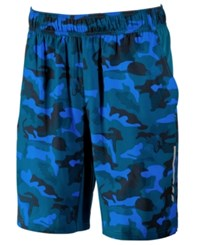 Ideology Id Men's Camo Print Shorts Only At Macy's Salt Water Blue