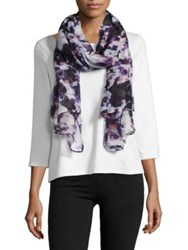 Lord And Taylor Abstract Floral Printed Scarf Pink