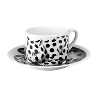 Fornasetti High Fidelity Teacup And Saucer Pois