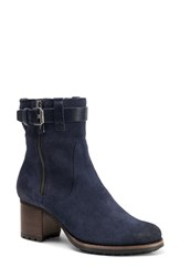 Trask 'Madison' Short Boot Navy Waterproof Suede