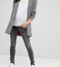 Mamalicious Over The Bump Washed Jeans Grey