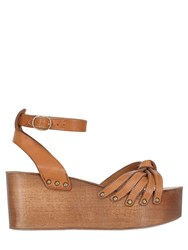 Isabel Marant 70Mm Etoile Zia Leather And Wood Wedges