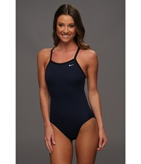 Nike Solid Poly Lingerie Tank One Piece Navy Women's Swimsuits One Piece