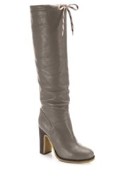 See By Chloe Jona Tall Leather Boots Grey Black