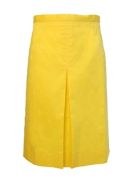 Cutie Pleat Front Skirt Yellow