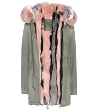 Mr And Mrs Italy Fur Lined Cotton Parka Green