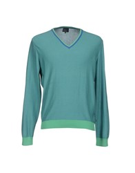 Henry Cotton's Knitwear Jumpers Men Turquoise