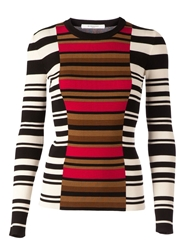 Givenchy Fitted Striped Jumper Black