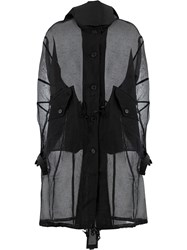 Yang Li Sheer Oversized Coat Black