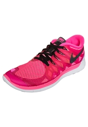 Nike Performance Free 5.0 Lightweight Running Shoes Pink Pow Black Polarized Pink