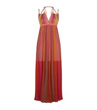 M Missoni Halter Neck Maxi Dress Female Pink