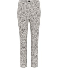 Cc Animal Jacquard Cropped Trousers Black