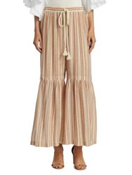 See By Chloe Striped Wide Leg Pants Multicolor