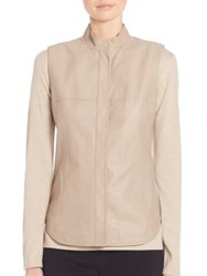 Max Mara Ussel Leather Vest Beige