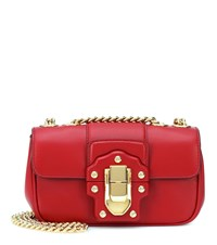 Dolce And Gabbana Mini Leather Crossbody Bag Red