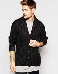 Denim And Supply Ralph Lauren Cardigan With Cable Knit Black