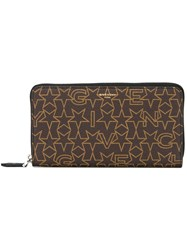 Givenchy Logo Print Wallet Brown