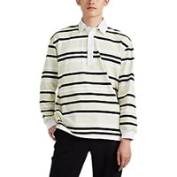 J.W.Anderson Striped Cotton Rugby Shirt Green