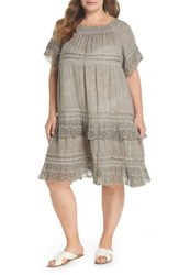 Muche Et Muchette Plus Size Women's Esmerelda Cover Up Dress Taupe