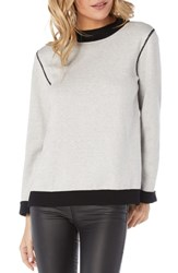 Michael Stars Reversible Sweatshirt Black Chalk