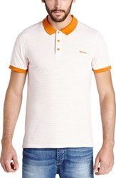 Men's Bench 'Parter' Stripe Jersey Polo Bright White
