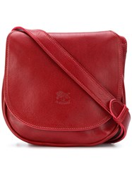 Il Bisonte Small Saddle Bag Red