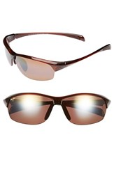 Maui Jim Women's 'River Jetty' 63Mm Polarized Sunglasses Rootbeer Bronze Rootbeer Bronze