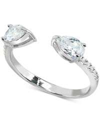 Giani Bernini Cubic Zirconia Stackable Pear Cuff Ring In Sterling Silver
