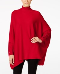 Alfani Knit Turtleneck Poncho Only At Macy's Red Amore