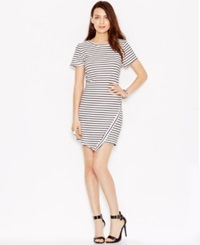 Bar Iii Striped Envelope Dress Only At Macy's Ivory Combo