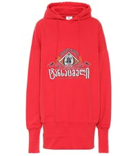 Vetements Embroidered Oversized Cotton Hoodie