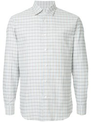 Gieves And Hawkes Long Sleeved Checked Shirt Cotton Brown