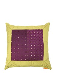 Etro Limousine Printed Silk Blend Pillow Green Purple