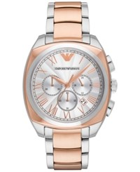 Emporio Armani Men's Chronograph Gamma Two Tone Stainless Steel Bracelet Watch 44Mm Ar1937