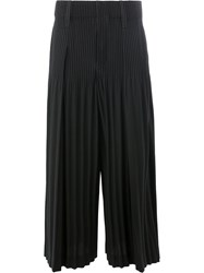 Homme Plisse Issey Miyake Wide Legged Pleated Trousers Black