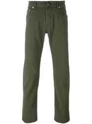 Jacob Cohen Straight Leg Jeans Green