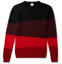 Paul Smith Striped Wool Blend Sweater Red
