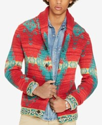 Denim And Supply Ralph Lauren Men's Beacon Cardigan Red