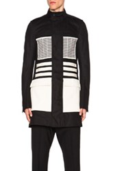 Rick Owens Ribbed Field Jacket In Black
