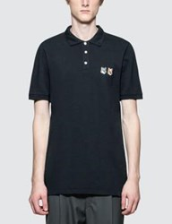 Maison Kitsune Double Fox Head Patch Polo