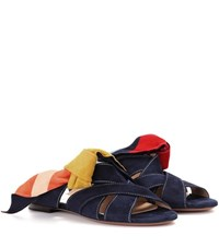 Chloe Nellie Suede Sandals Blue