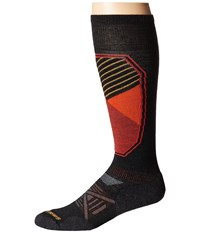 Smartwool Phd Ski Light Pattern Black Men's Crew Cut Socks Shoes