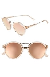 Electric Eyewear Mix Tape 52Mm Mirrored Round Sunglasses Nude Crystal Champagne Nude Crystal Champagne