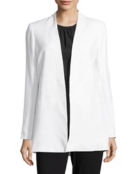 Calvin Klein Solid Long Sleeve Sportcoat White