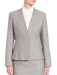 Boss Jasana Wool Blazer Grey