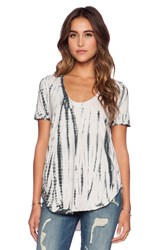 Chaser Strappy Shirttail Tee Charcoal